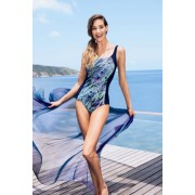Costum de baie intreg post mastectomie Peacock Fever Albina L6 6365